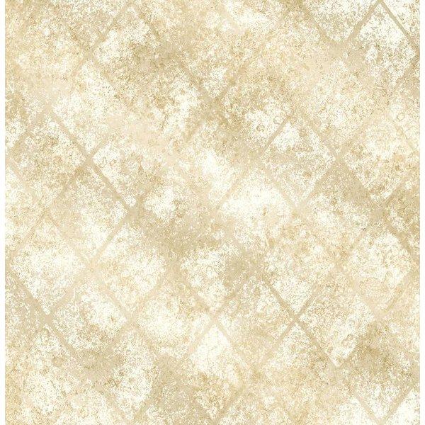 Dutch Wallcoverings Reclaimed metallic tegel behang geel
