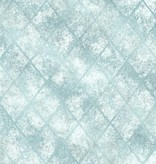 Dutch Wallcoverings Reclaimed metallic tegel behang blauw