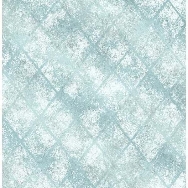 Dutch Wallcoverings Reclaimed metallic behang blauw