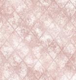 Dutch Wallcoverings Reclaimed metallic tegel behang roze