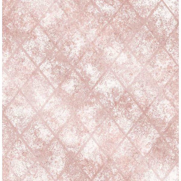 Dutch Wallcoverings Reclaimed metallic behang roze