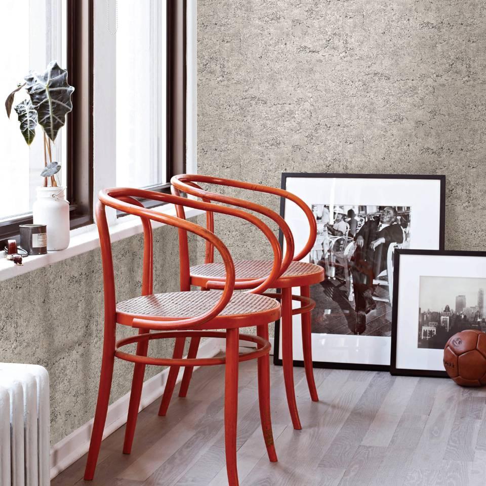 Dutch wallcoverings. reclaimed betonnen muur behang taupe   de ...