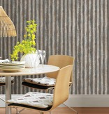 Dutch Wallcoverings Reclaimed golfplaten behang bruin grijs