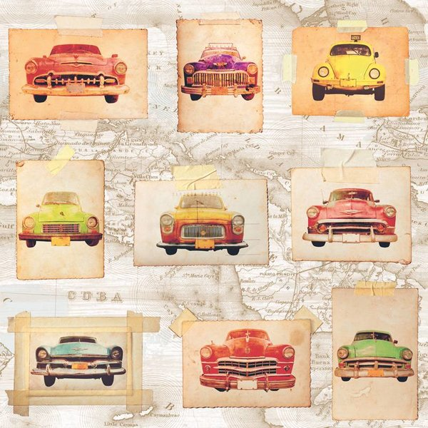 Dutch Wallcoverings Jet Setter Oldtimers