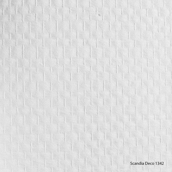 Scandia Glasweefselbehang Deco 1342 – Voorgeschilderd – Ruit Standaard - 1m2
