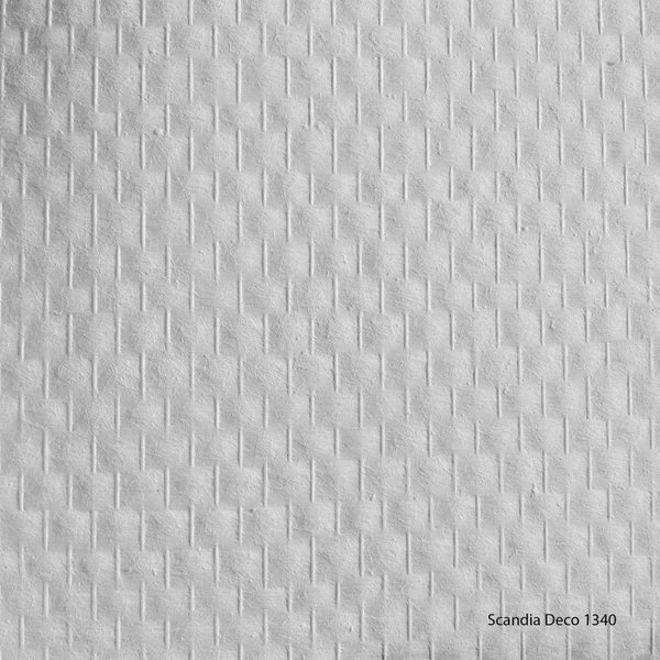 Scandia Glasweefselbehang -  Deco 1340 – Voorgeschilderd – Ruit - 1m2