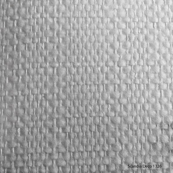 Scandia Glasweefselbehang Deco 1326 – Niet Voorgeschilderd – Ruit/Blok Strepen - 1m2