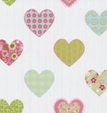 Dutch Wallcoverings Happy Kids hartjes groen roze 05583-20