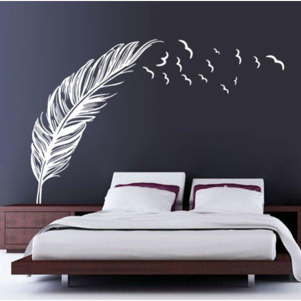 Muursticker - Vliegende veer