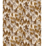 Dutch Wallcoverings Soft & Natural veren bruin J641-08