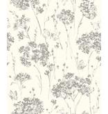 Dutch Wallcoverings Soft & Natural bloem vlinder wit beige J633-19