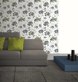 Dutch Wallcoverings Soft & Natural bloem vlinder blauw groen J633-01