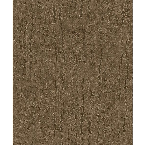 Dutch Wallcoverings Soft & Natural Croco bruin