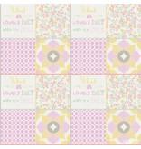Noordwand Cozz Smile Patchwork roze geel koraalrood 61171-14