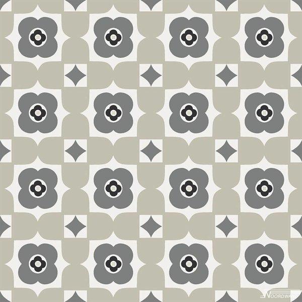 Noordwand Cozz Smile retro floral zwart grijs 61170-06