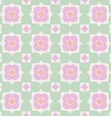 Noordwand Cozz Smile retro floral groen roze 61170-03