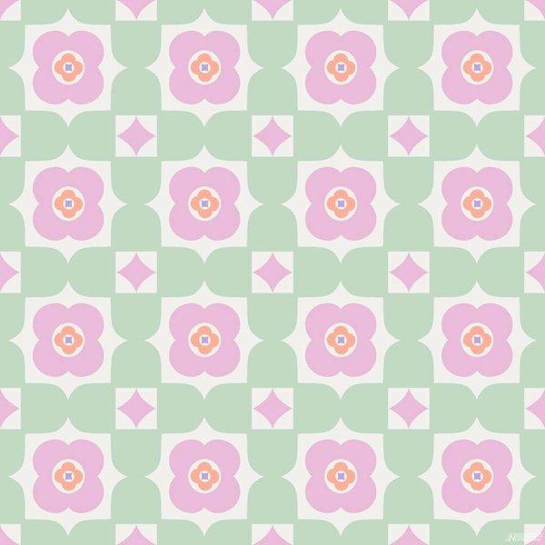 Cozz Smile retro floral groen roze