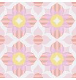 Noordwand Cozz Smile retro flower roze koraalrood geel 61168-14