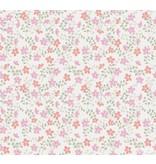Noordwand Cozz Smile bloemetjes roze koraalrood 61163-14