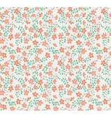 Noordwand Cozz Smile bloemetjes oranje groen 61163-04