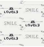Noordwand Cozz Smile geschreven krijtbord creme 61166-06