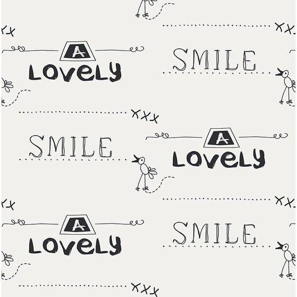 Cozz Smile geschreven krijtbord creme