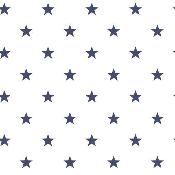 Noordwand Deauville kleine sterren wit marine blauw