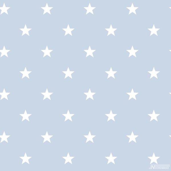 Noordwand Deauville kleine sterren lichtblauw wit G23100