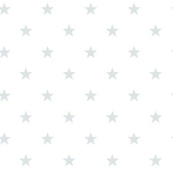 Noordwand Deauville kleine sterren wit mint G23102