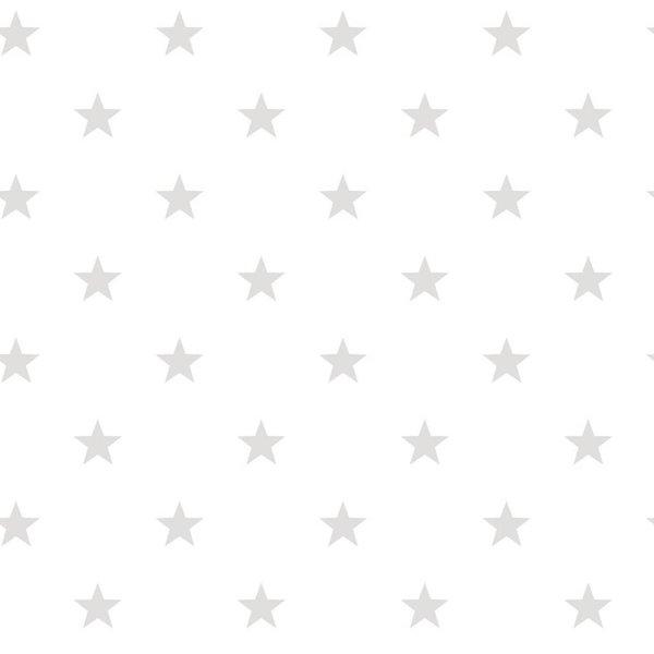 Noordwand Deauville kleine sterren wit grijs G23103