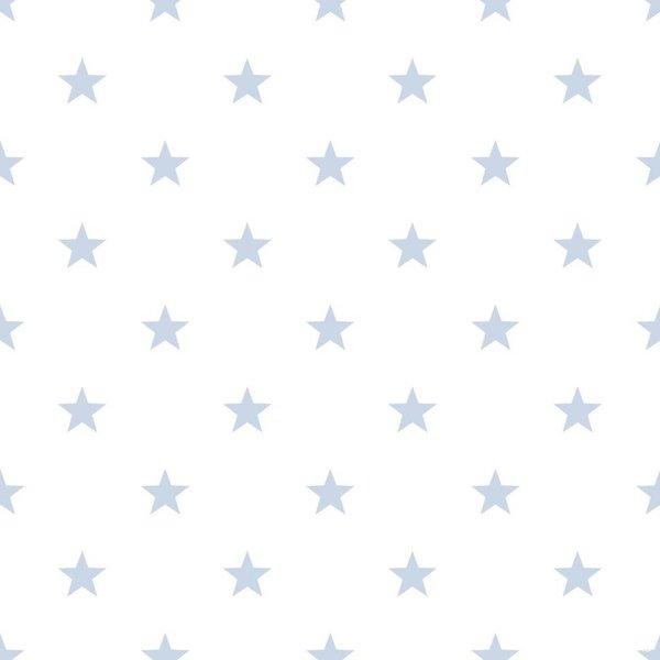 Noordwand Deauville kleine sterren wit lichtblauw