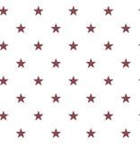 Noordwand Deauville kleine sterren wit bordeaux rood G23105
