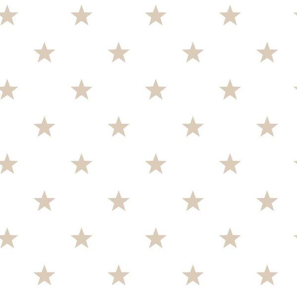 Noordwand Deauville kleine sterren wit beige