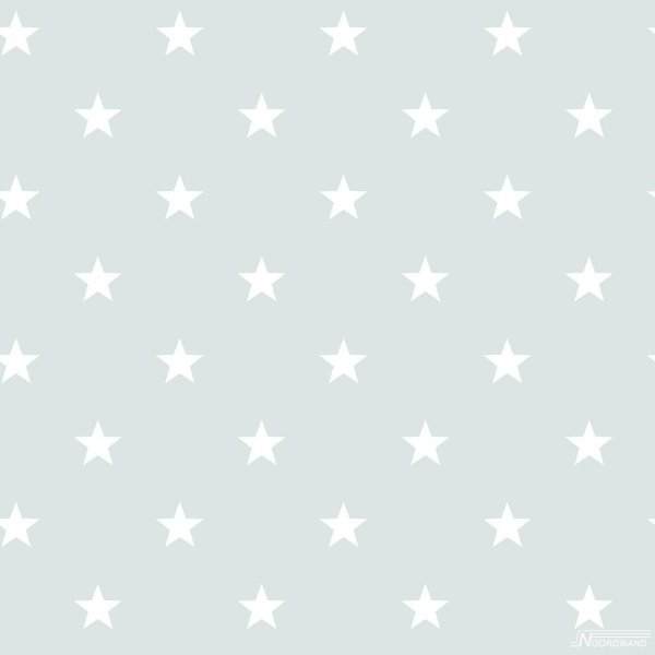 Deauville kleine sterren mint wit