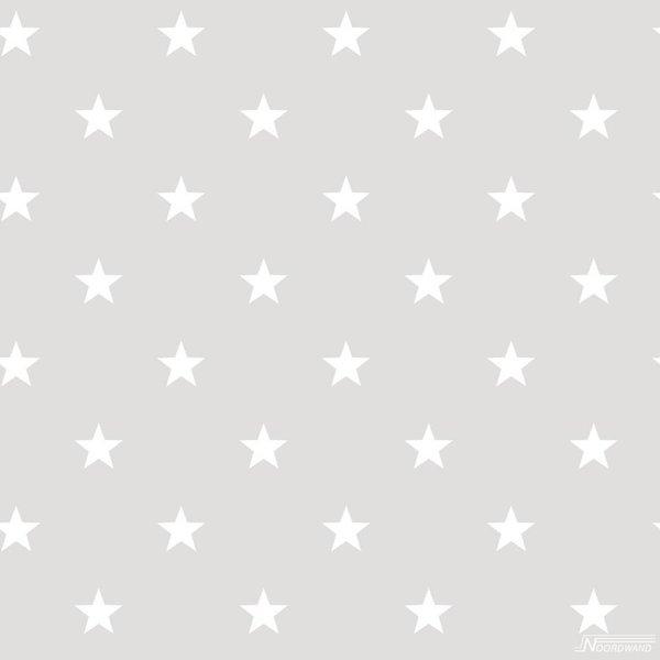 Noordwand Deauville kleine sterren grijs wit