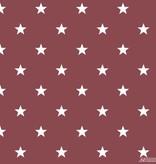 Noordwand Deauville kleine sterren bordeaux rood wit G23111