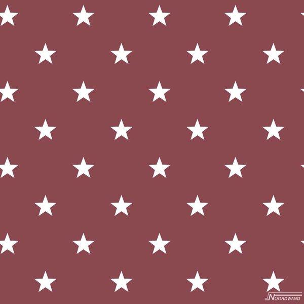 Deauville kleine sterren bordeaux rood