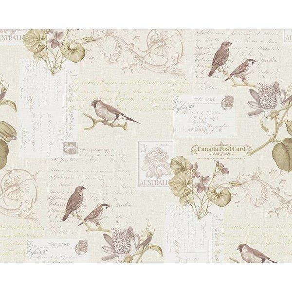 A.S. Creation Dekora Natur paper bird beige 95948-1