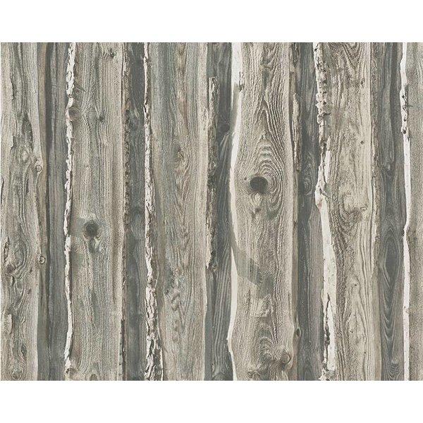 A.S. Creation Dekora Natur hout boomschors grijs