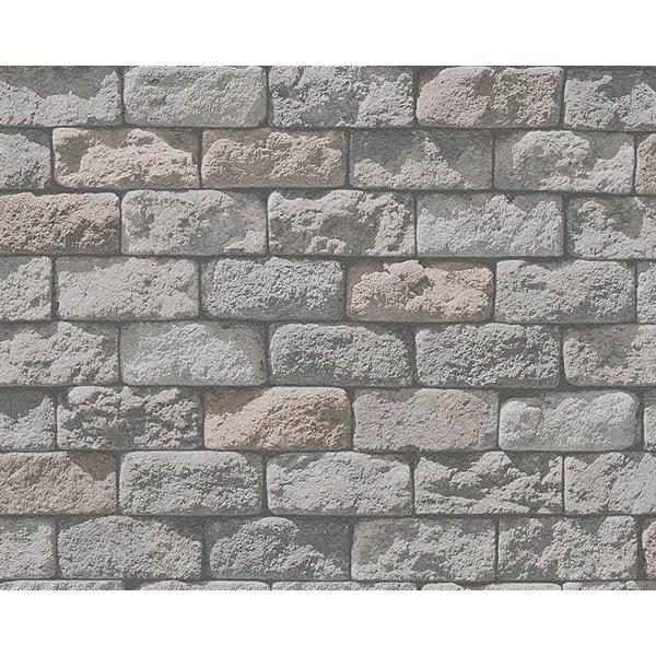 A.S. Creation Dekora Natur baksteen rood grijs