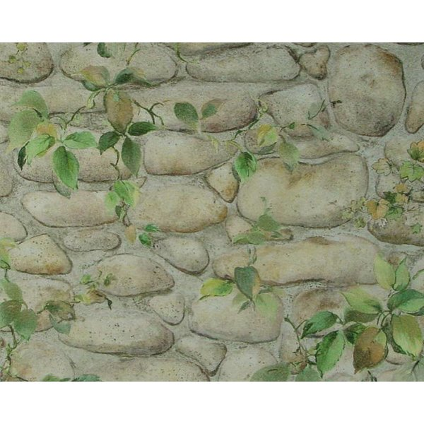 A.S. Creation Dekora Natur steen buiten plant bruin