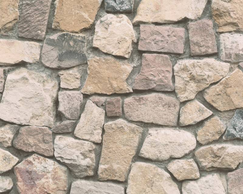 Dekora natur steen behang bruin 6925 12 de behangwinkelier - Modern muur steen ...
