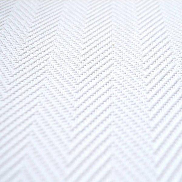 Dutch Wallcoverings Royal Dutch 7 schuimvinyl visgraat wit 6606-0