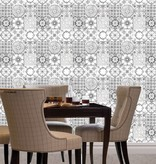 Dutch Wallcoverings Royal Dutch 7 patchwork tegel zwart wit J956-09