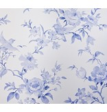 Dutch Wallcoverings Royal Dutch 7 Bloemen vogel delfts blauw 7486-5
