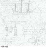 Dutch Wallcoverings Royal Dutch 7 Maritiem wit grijs 42110-20