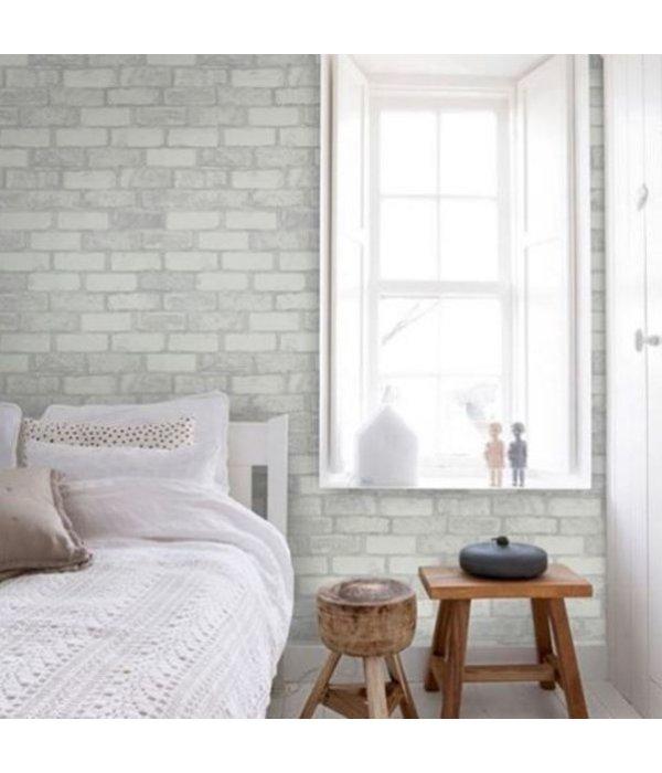 Dutch wallcoverings reclaimed baksteen behang grijs de for Behang per m2