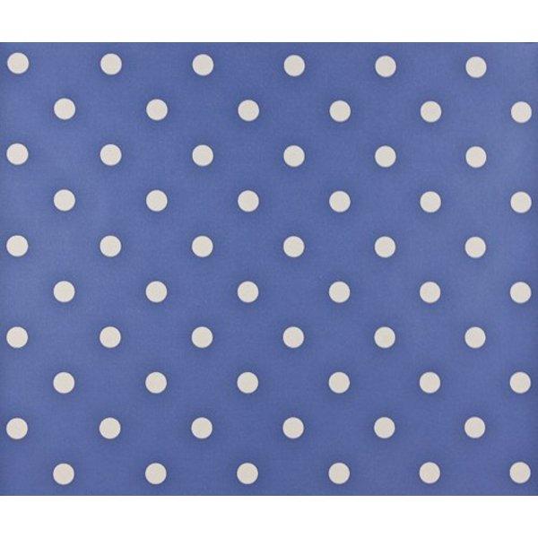 Mix Match stippen behang blauw wit