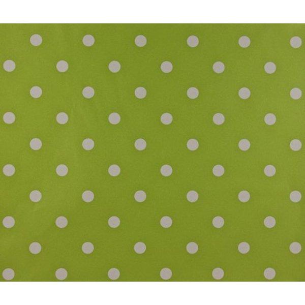 Mix Match stippen behang groen wit