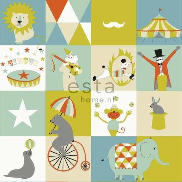 Everybody Bonjour Circus blauw/groen